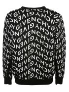 Givenchy All-over Logo Patterned Cardigan - Nero