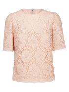 Dolce & Gabbana Cordonetto Lace Top - Rosa pallido