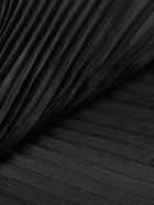 Emporio Armani Pleated Scarf - Stone Black