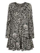 RED Valentino Tiger Mid-length Dress - Ivory