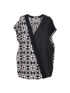 Fausto Puglisi Silk Top - Black-white