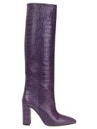 Paris Texas Croco Tall Boots - Purple