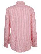 Ralph Lauren Striped Logo Shirt - Red/white