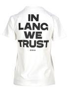 Helmut Lang Tshirt Lang We Trust - White