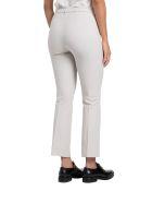 Max Mara The Cube Umanita Pantalone A Trombetta 52%cotton 41%polyamide 7%elastane - Bianco