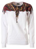 Marcelo Burlon Leopard Wings Crewneck Sweatshirt - White/multicolor