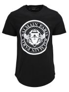 Balmain Floked Coin Tshirt - Basic