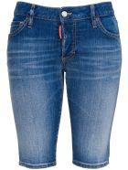 Dsquared2 Cotton Denim Bike Shorts - Blu
