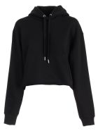 Calvin Klein Jeans Sweatshirt W/hood And Logo - Bae Black Beauty