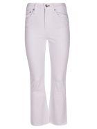 Rag & Bone Wide Leg Jeans - White