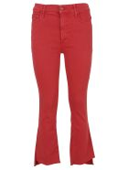 Mother Cropped Jeans - Red