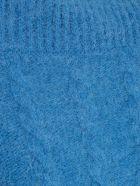 Jacquemus Le Maille Sofia Sweater W/braids High Neck - Blue