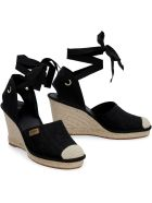 Fendi Jute Wedge Espadrilles - black