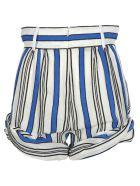 Philosophy di Lorenzo Serafini Philosophy Philosophy Striped Shorts - BLUE WHITE