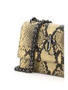 Jimmy Choo Bohemia Python Print Leather Mini Bag - DIJON (Beige)