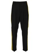 Valentino Side Band Tailored Pants - BLACK + YELLOW