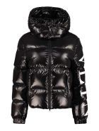 Valentino Hooded Puffer Jacket - black