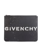 Givenchy Stencil Large Zipped Pouch - Black White