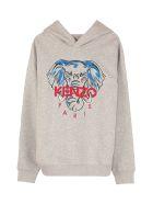 Kenzo Kids Embroidered Hoodie - grey