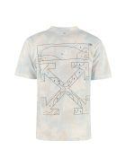 Off-White Arrow Print Cotton T-shirt - Blue