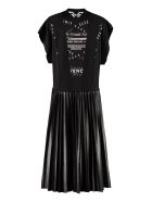 Givenchy Plated Skirt Dress - black
