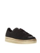 Adidas Originals Superstar 80's New Bold Black Leather Sneakers - Black