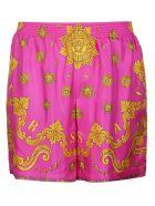 Versace Barocco Western Print Shorts - Multicolor
