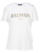 Balmain Classic Logo T-shirt - BIANCO + GOLD
