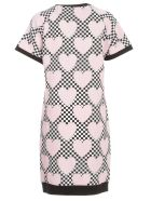 Love Moschino Knitted Dress S/s W/hearts Race - Pink