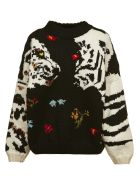 Sonia by Sonia Rykiel Embroidered Sweater - Nero multicolor