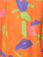 Daniela Gregis Cotton Jacket Revers Neck - Tiglio Arancio Drawing