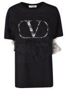 Valentino Tulle V Logo T-shirt - Basic