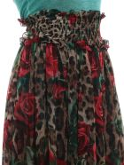 Dolce & Gabbana Leopard Floral Skirt - Hkirs Rose Rosse Fdo Leo