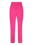 Alexander McQueen High-waist Crêpe Trousers - Orchid pink
