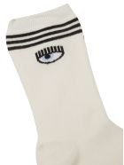 Chiara Ferragni Flirting Eye Socks - white