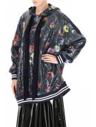 Mira Mikati Multicolor Sequins Maxi Hoodie - MONSTER (Blue)