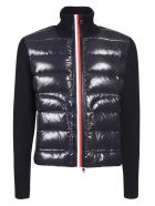 Moncler Roll Neck Padded Zip Jacket - Blue