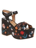Laurence Dacade Floral Sandals - Black