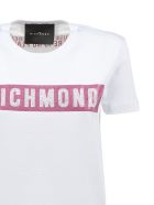 John Richmond Logo Studded Print T-shirt - Bianco rosa