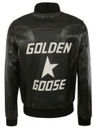 Golden Goose Logo Bomber - Black/white