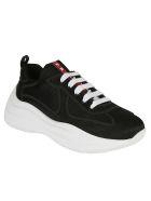 Prada Linea Rossa Bike Sneakers - Black/white