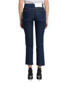 Frame Stretch Jeans With Raw Edge - Blu