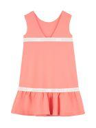 Emporio Armani Ruffled Mini Dress - Salmon pink