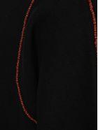 Jil Sander Beads Embellished Sweatshirt - BLACK
