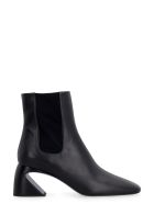 Jil Sander Leather Ankle Boots - black
