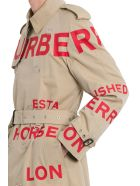 Burberry Contrast Lettering Trench - Beige