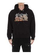 Palm Angels Desert Skull Hoodie - Black multi
