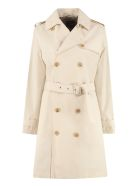 A.P.C. Joséphine Double-breasted Trench Coat - panna