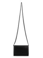 Alexander McQueen Leather Clutch With Strap - black