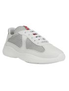 Prada New Americas Cap Sneakers - Bianco/argento